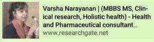 Dr. Varsha Narayanan | Health & Pharmaceutical Consultant