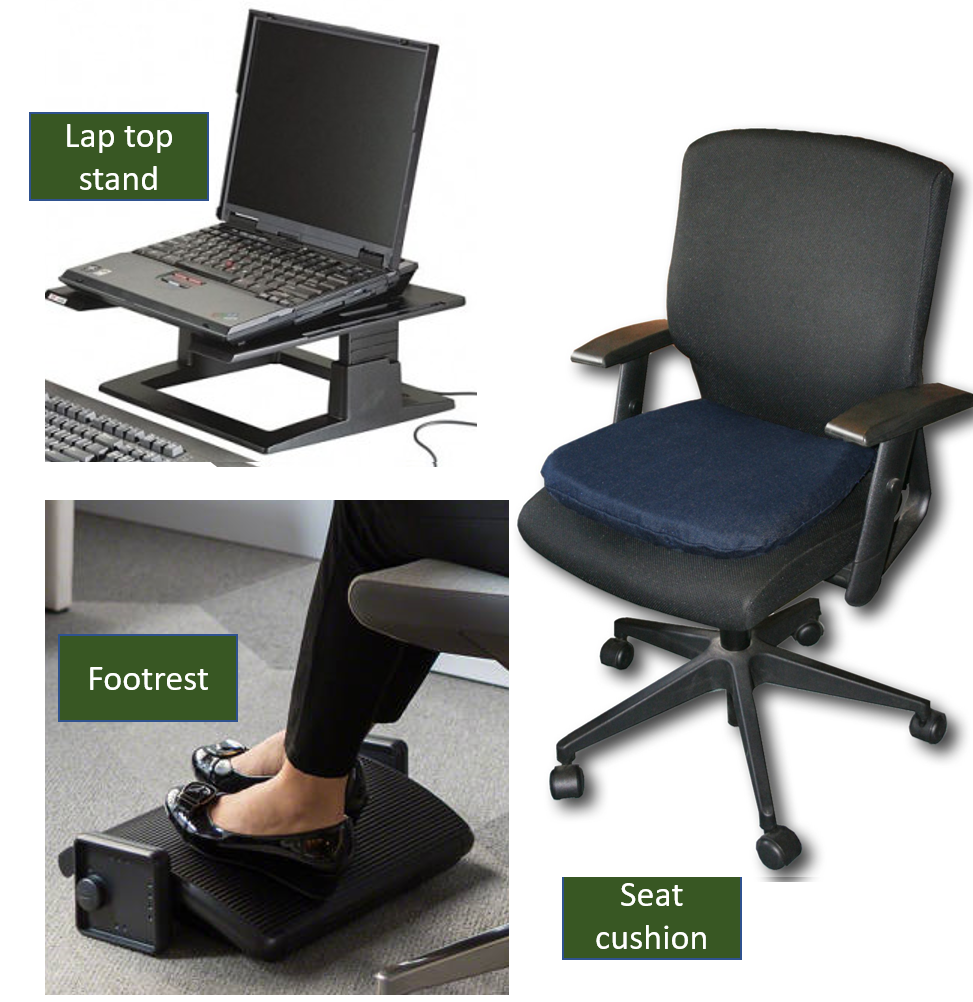 sitting comfort for laptops