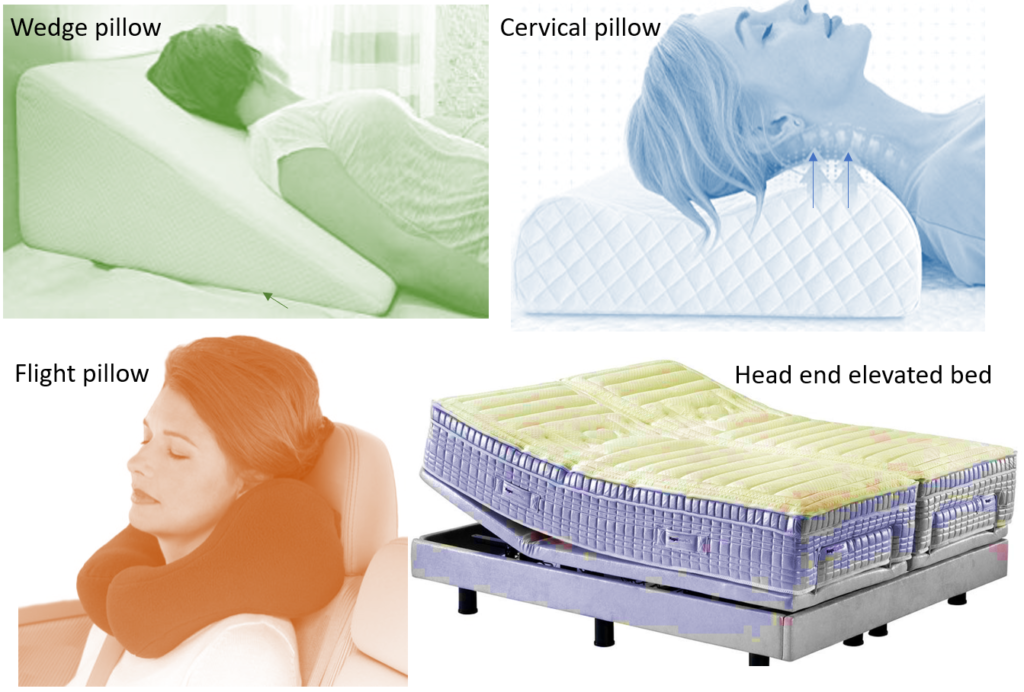 Anti-snoring pillows