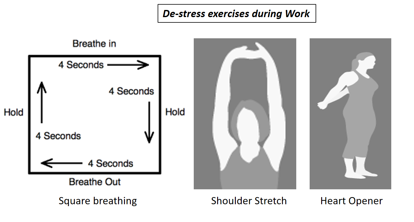 Workplace exercises to de-stress